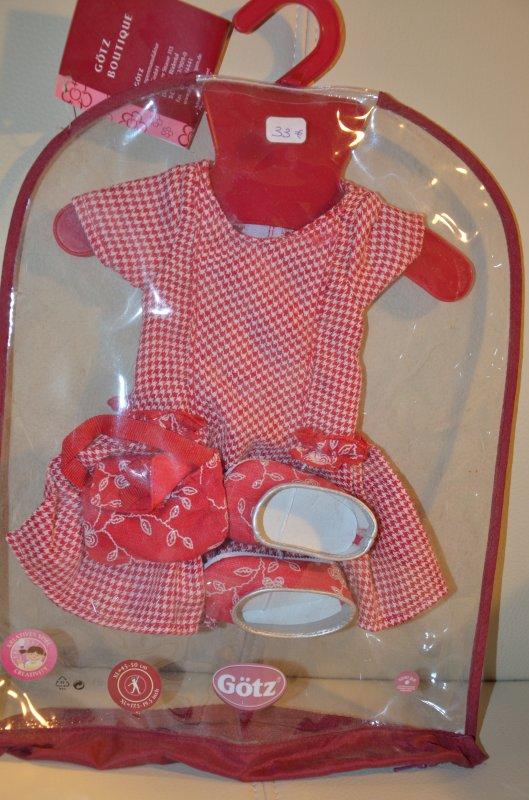 Tenue poupée Götz Hannah neuve emballée robe + chaussures + sac