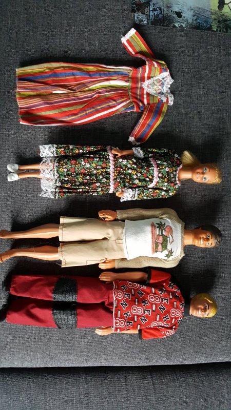 Lot 2 ken 1968 + 1 barbie vintage