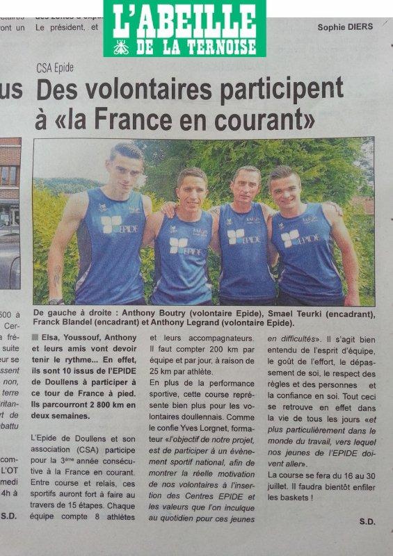 Articles dans la Presse pour la France en Courant 2016