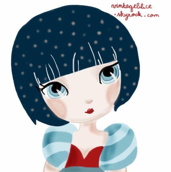Dessin inspiré des illustrations d'Adolie Day ♥