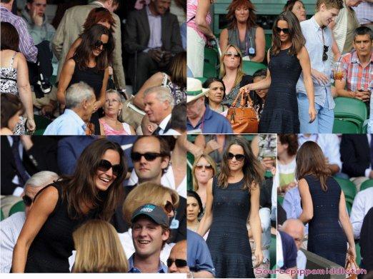 01/07/2011  Pippa de nouveau a wimbledon, cette fois ci avec son ex Georges Percy
