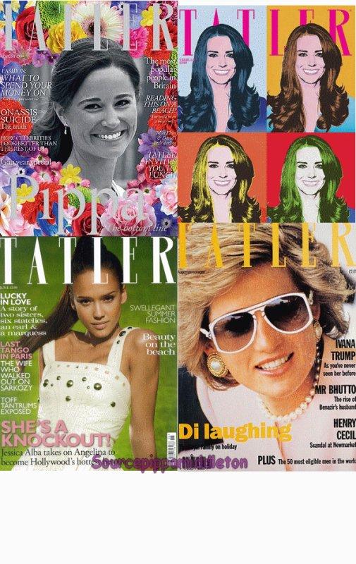 PIppa en couverture de Tatler du mois d' Aout 2011