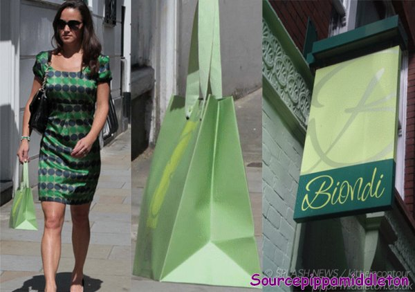 Le 20/07/11 et le 22/07/11 Pippa dans Londres