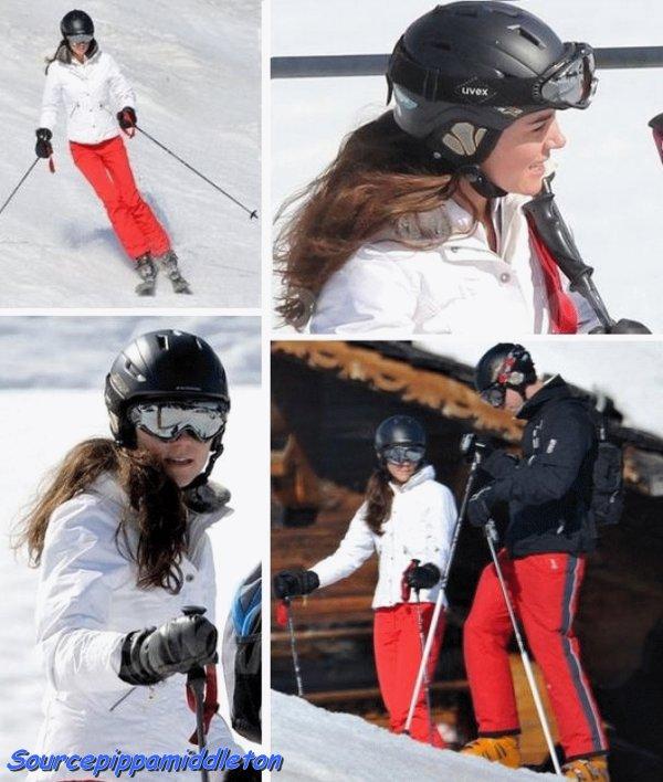 Pippa et Kate Middleton, avec leurs chéris à Courchevel