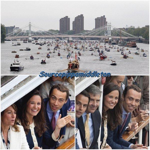 Pippa Middleton et sa famille au jubilé de diamant de la Reine