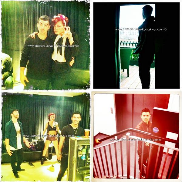 . Diverses photos de Joseph postées sur son Instagram durant sa tournée avec Britney Spears. .