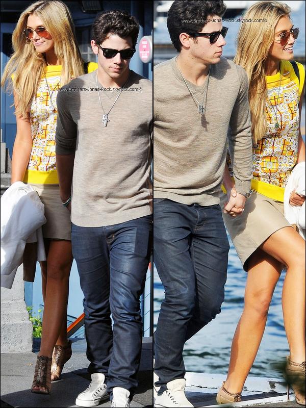 . 02/12/11 : Nick & Delta se font une croisière en bateau entre amoureux toujours à Sydney, en Australie.  .
