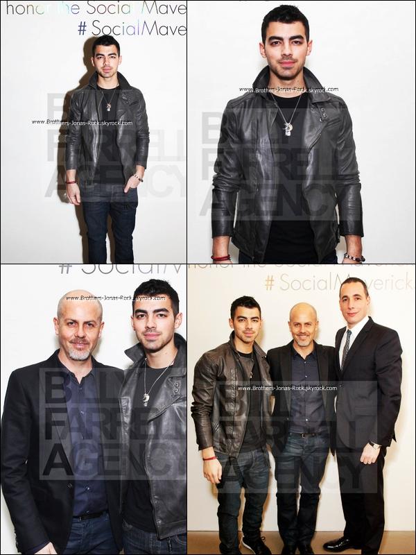 . 01/02/12 : Joe s'est rendu soirée donnée par Details Magazine et Calvin Klein dans les bureaux de CK à New York.  .