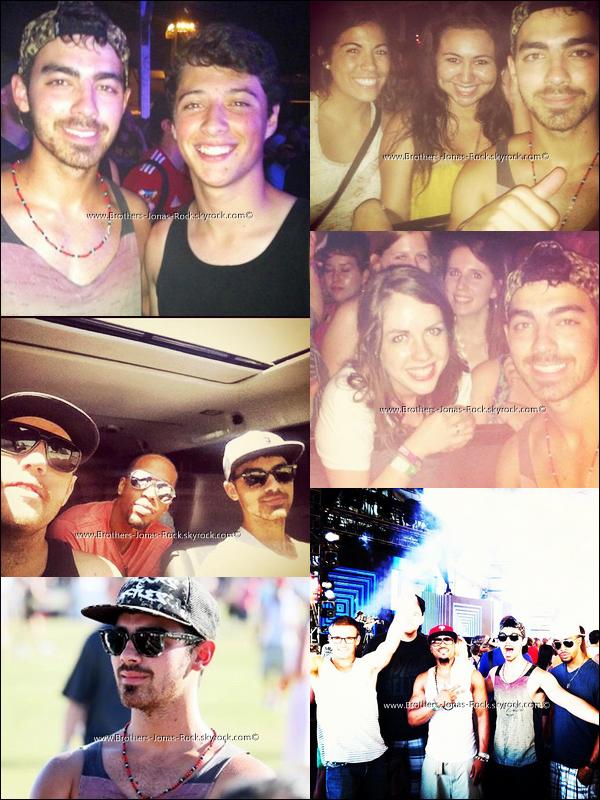 .  20-21/04/12 : Joe & ses amis se rendent au festival de musique de Coachella qui a lieu en Californie.   .