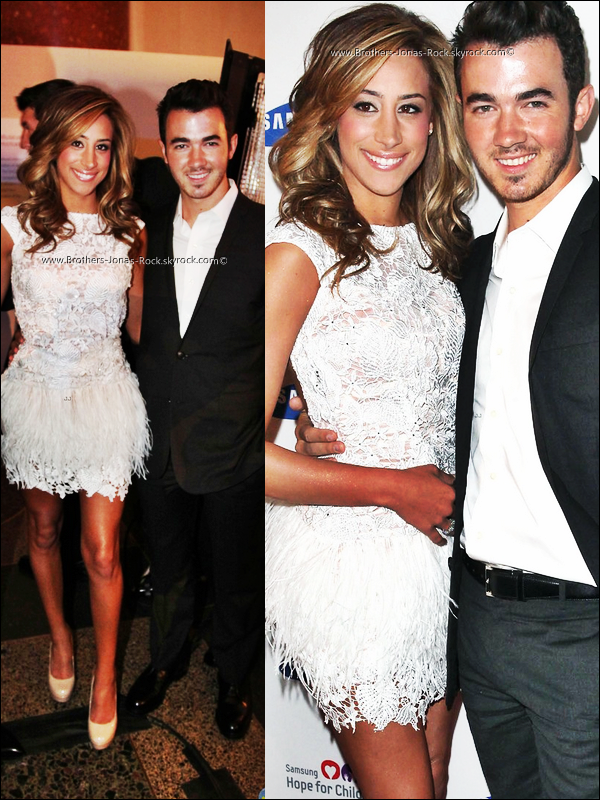 .  04/06/12 : Kevin & Danielle étaient au gala Samsung's Annual Hope for Children à New York. .