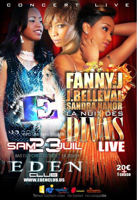 En live le 23 juillet 2011 avec Sandra Nanor et Fanny J