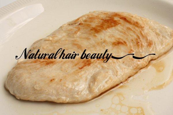 Les protéines pour la pousse des cheveux , Partie 2 : L'escalope de dinde
