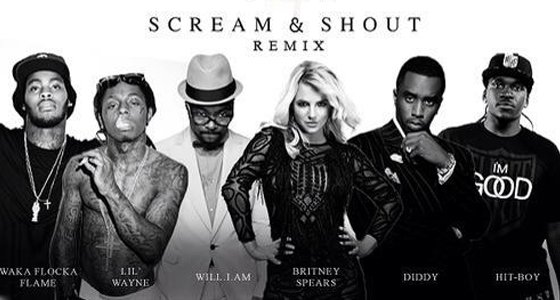Voici le remix Officiel de Scream & Shout (ft. Diddy / Waka Flocka Flame / Lil Wayne & Hit-Boy)