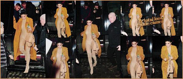 .11/02/2017 : Dans la soirée, Kylie et Tyga ont été vus arrivant à un pop-up pour Kylie Cosmetics à NYC Durant la Fashion Week, Kyl' en a profiter pour ouvrir le temps d'une soirée pop-up sur sa ligne de make-up.Vous aimez le total look Yeezy ? .
