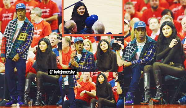 .28/05/2018: Notre Kylie et Travis S. sont allés au match des Houston Rockets vs. Golden State Warriors C'est toujours plus amoureux que nos deux tourtereaux sortent ensemble. De noir vêtue,, j'adore la tenue de la Jenner. Un top pour moi. Des avis ? .