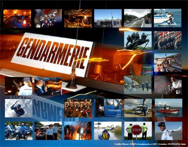 Différentes compagnies de Gendarmerie (il n' y a pas toute les compagnies de la Gendarmerie) :