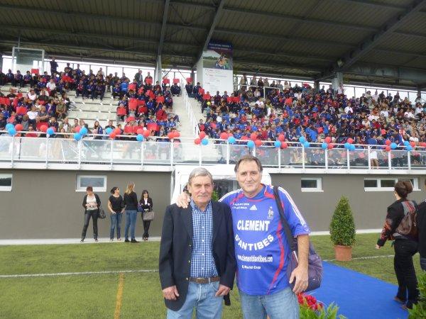 Grasse ,le 19 octobre 2013 ,  Stade de la Paoute , invité à l'inauguration de la nouvelle Tribune :: CHARLY  LOUBET  (( 930 places assises ))