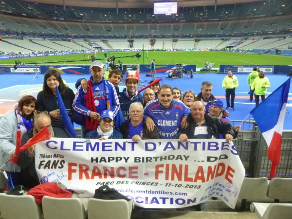 avec mes amis supporters