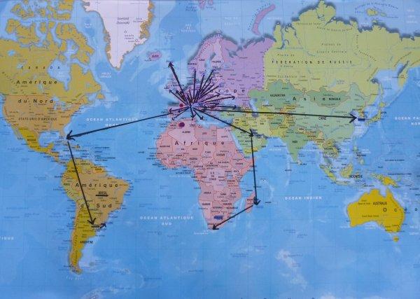 36 pays visités :: MERCI  les BLEUS  .