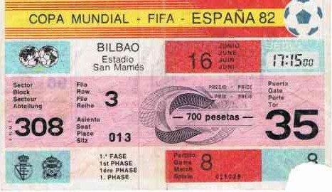 ... mon 1ér MATCH  .... 16 juin 1982
