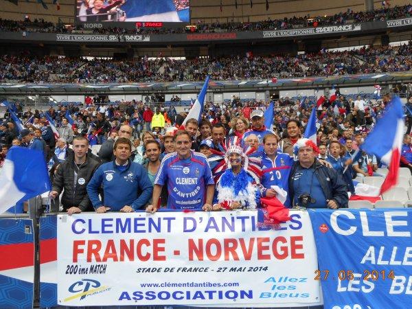 FRANCE - NORVEGE   , le 27 mai 2014 au SDF