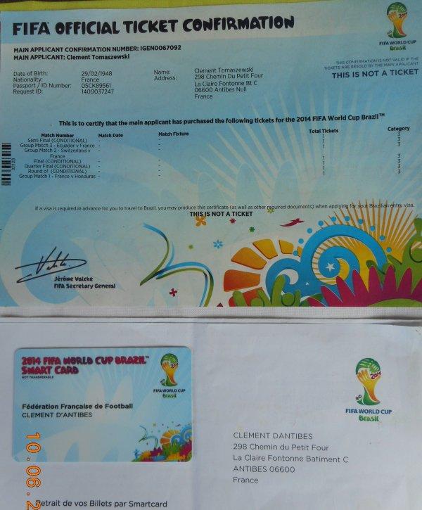 CARTE  magnétique dans laquelle est enregistée : 300 places pour le BRESIL soit : 44755 US Dollards ( soit 32900 Euros )