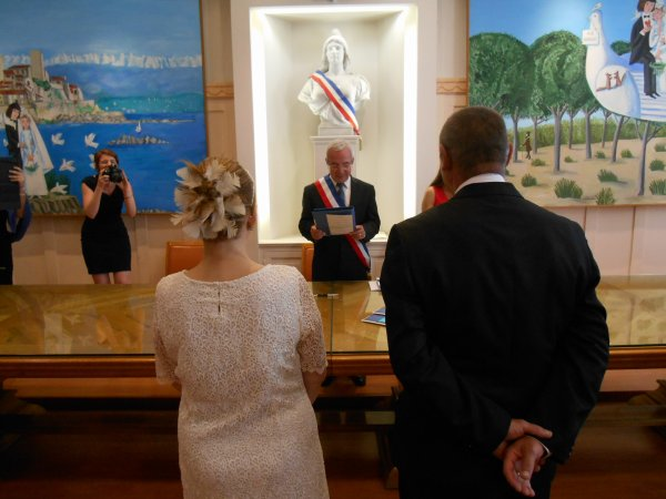 mariage de mes amis :: ARMENIENS  , Laurence et  Gérard , en présence de JEAN  LEONETTI  député -maire d'Antibes et ....ancien Ministre