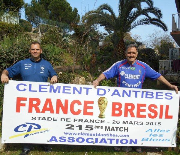 215éme match pour FRANCE / BRESIL  du 26 mars 2015 au SDF