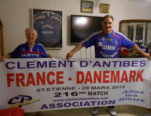 FRANCE / DANEMARK  du 29 mars 2015 à St ETIENNE