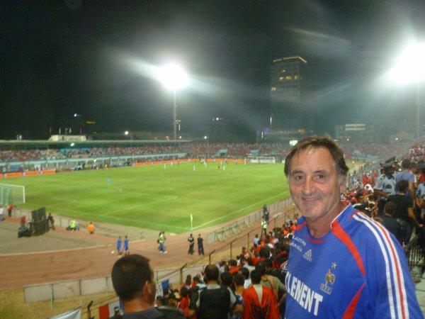 et j'y étais déja  en ce ... 2 septembre 2011 , à TIRANA ... pour ALBANIE / FRANCE ..avec mes amis de la COP 'NCO  de Nice ...