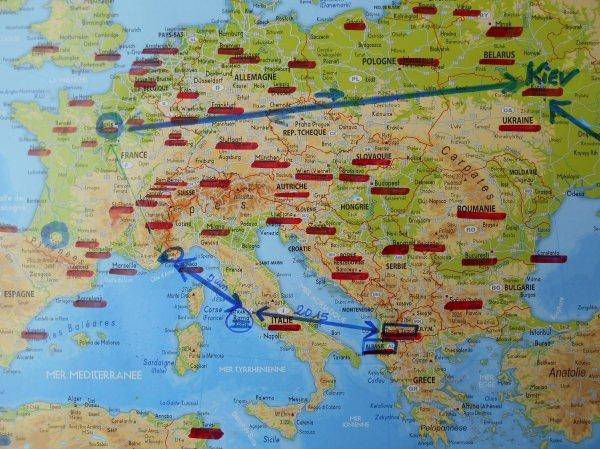 """218 éme match pour ALBANIE / FRANCE  à Elbasan (( à 40 km. de Tirana )) de samedi 13 juin....DEPART  en avion LE 10 JUIN  de NICE  ..via ROME  et arrivée à TIRANA  à 22h30 .. (( RETOUR le 14 juin ))........ Nous serons : 7 supporters présents , tous adhérents de """" Clément d'Antibes Association ...(( au London Hotel )) .....SCORE PREVU  : 1 à 4"""