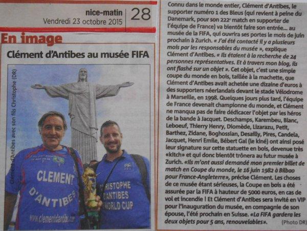 FIFA  -- RECONNAISSANCE -- et ... CONSECRATION ... mondiale