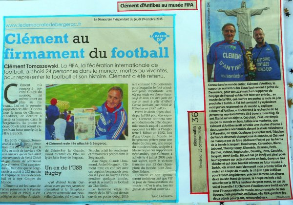 -- 68 ans -- le  29 FEVRIER 2016  ... au  Musée du Football de la FIFA à ZURICH !!!!!