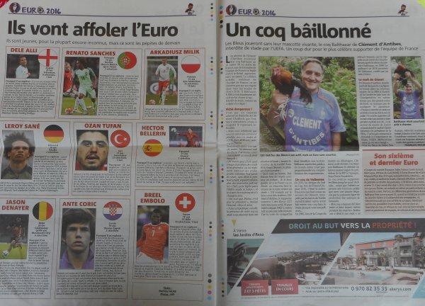 """articles de NICE-MATIN ....sur BALTHAZAR  ... interdit d' EURO 2016  !!! pour  """""""" menaces terroristes ''' et ....d'explosions de .."""""""" fou-rires ''  !!!"""