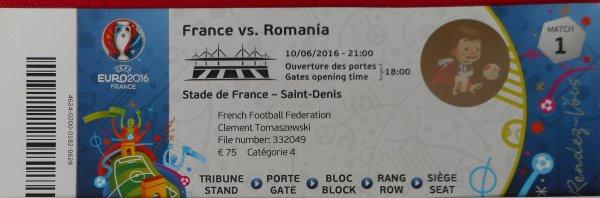 """et c'est parti pour mon : 6éme ..et dernier EURO !! ..mon """" 20éme match '' pour ce FRANCE/ ROUMANIE  du 10 juin au SDF .......et 228éme match depuis le 16 juin 1982 !!!"""