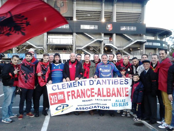 -- EURO 2016 :: déplacement à MARSEILLE  pour FR/ ALBANIE  ce 15 juin .....toujours avec BALTHAZAR  ....et photos prises à TIRANA  et avec l'équipe d'ALBANIE à Rennes !!