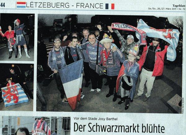 """c'est parti pour mes 237éme et 238éme match !! et 2éme """" visite au LUXEMBOURG (( voir articles presse du .. 25 mars 2012 ))"""