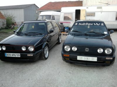 romain avec sa golf 2 gti 16s edition one a steve son golf 2 gti 8s blog de diabolique vw. Black Bedroom Furniture Sets. Home Design Ideas