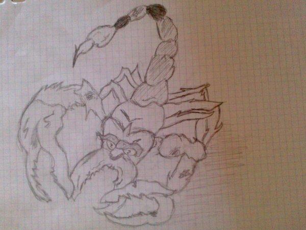 Papi scorpion :D part mes petite main :D
