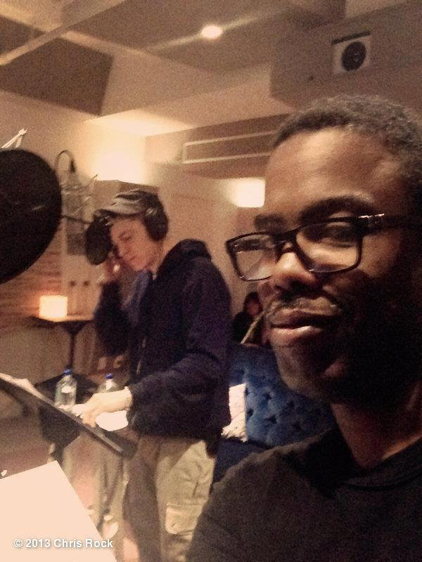 Eminem & Chris Rock au studio.