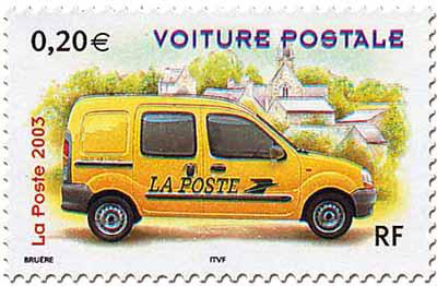 timbre voiture postale renault kangoo 2003 timbres de collection. Black Bedroom Furniture Sets. Home Design Ideas