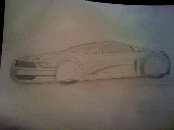 Dessin d'une voiture