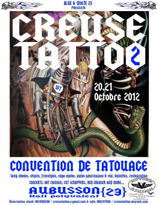 Rendez vous pour le CREUSE TATTOO  les  20 et 21 octobre  2012