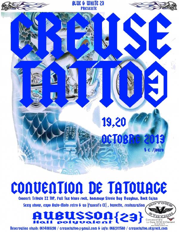 RENDEZ VOUS EN 2013 pour le CREUSE TATTOO 3!!!!!! 19.20 OCTOBRE 2013