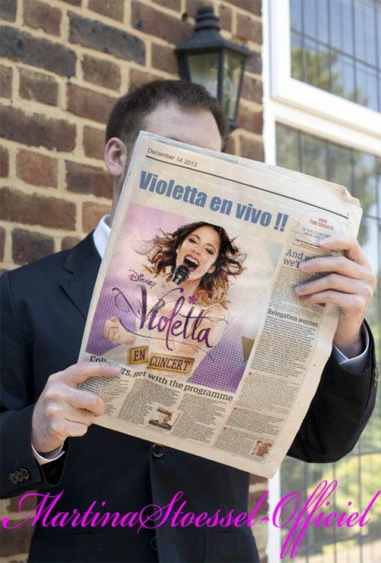 ღ Remixe sur tu aimerai que Violetta soit sur un journal ! ღ