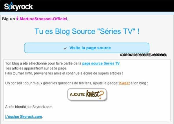 """Je suis blog source """"Disney"""" et """"Séries TV"""" !"""