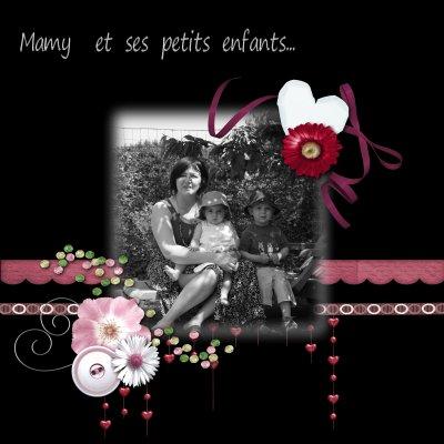 Mamy & ses petits enfants...  black & white