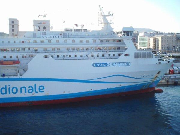 Vue sur le Kalliste une fois arrivé à Marseille. (01/07/2013.)