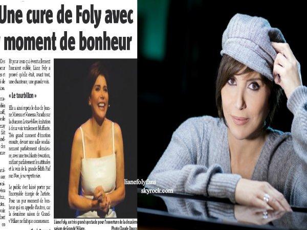 Les dernières News de Liane Foly.