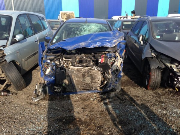 L'état de ma voiture après mon accident